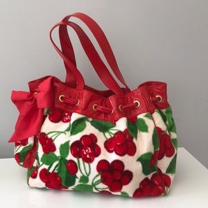 Juicy Couture Cherry Terrycloth Bag